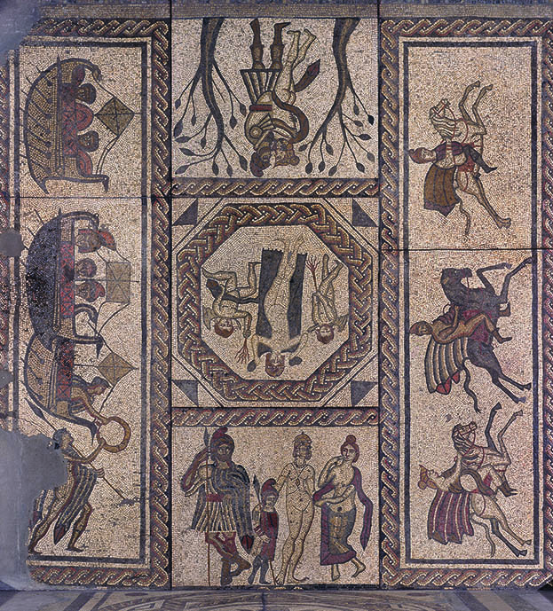 Low Ham Mosaic on Roman House Floor Plan