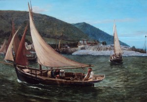 Charles Napier Hemy Oyster Dredgers at Porlock Weir 1