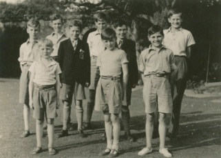 The Natural History of Living Things club members. The three brothers are together on the left of the photo with Keith back row, David middle row and Andrew front row