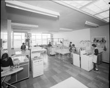 Sydenham Secondary Modern home economics classroom, 1962