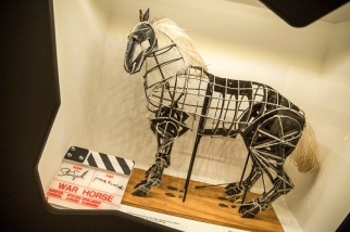 Clapperboard from the film War Horse and original maquette of Joey from the theatre production